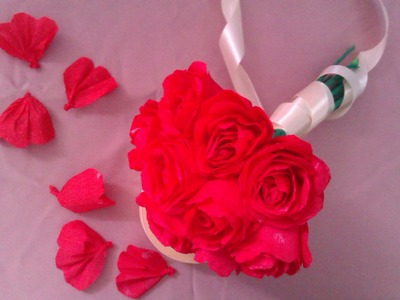 How to make tissue paper flowers : tissue paper roses