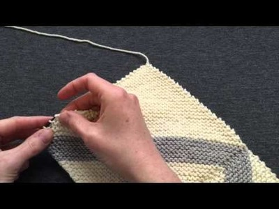 How to Pick Up Stitches Along a Garter Edge