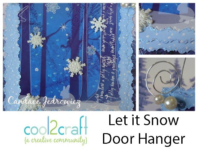 How to Upcycle a Tissue Box into a Holiday Door Hanger by Candace Jedrowicz