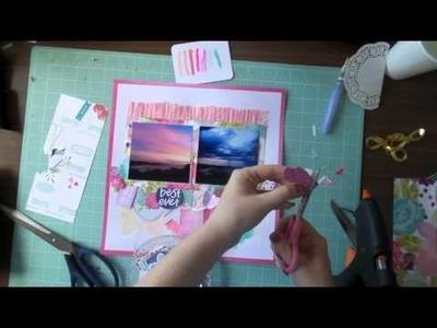 Inspiration @ Home #1 - 12x12 Scrapbooking Process Video - Dear Lizzy Serendipity