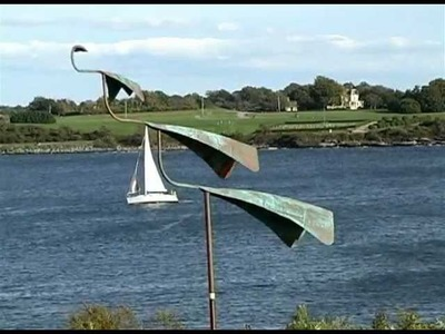 Kinetic Copper Wind Sculpture Spinner - Concord Swan Wind Sculpture