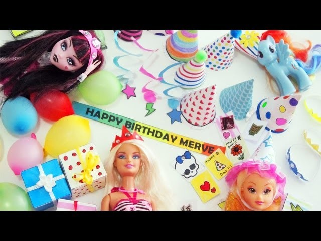 Make Doll Party Stuff - Doll Crafts