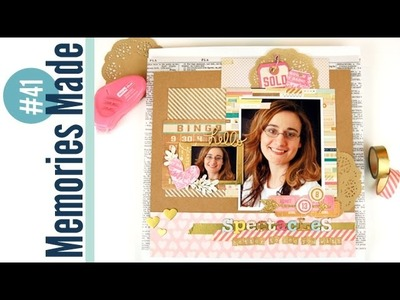 Memories Made #41 Scrapbooking Process Video: Spectacles