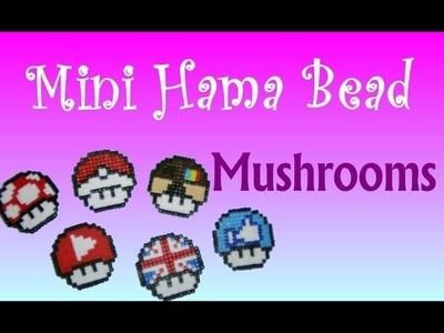 Mini Hama Beads - Mario Mushrooms