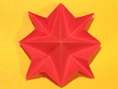 Origami 8 Pointed Star - How to make an 8 pointed star