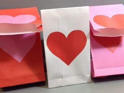 Origami Valentine Heart Gift Bags - Print Your Own