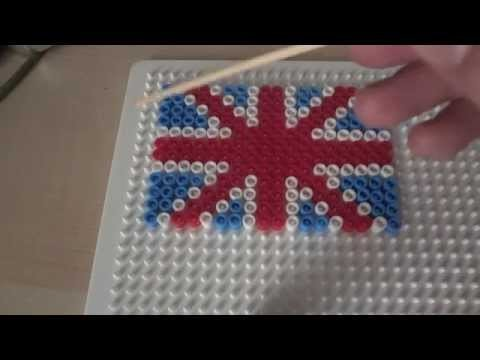 Pyssla.Hama beads:English Flag