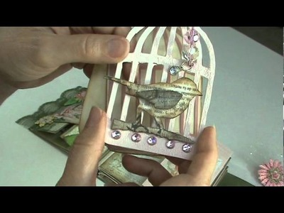 Scrapbook Mini Album Using Pink Paislee Butterfly Garden paper