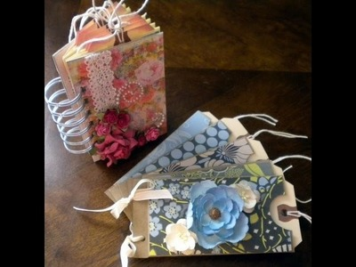 "Scrapbook Tutorial: ""Mini"" Pocket Albums - 2 Styles"