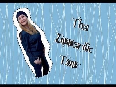 The Zipperific Top: a DIY zip-up cut out shirt tutorial