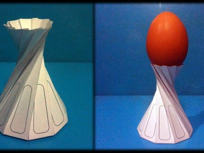 Tutorial 12 Egg Cup Support Paper Folding. Origami