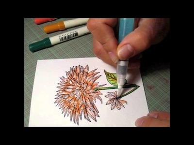 Watercoloring with Distress Markers for Craft Warehouse