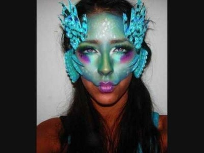 Zelda Zoras Inspired Makeup Part 1: Creating the Fins and Gils Tutorial How-To Mermaid Makeup