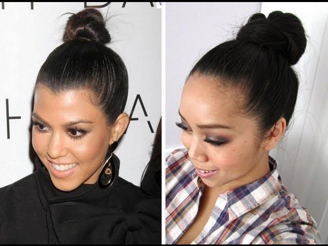 2 Minute Top Knot Hair Tutorial inspired by Kourtney Kardashian