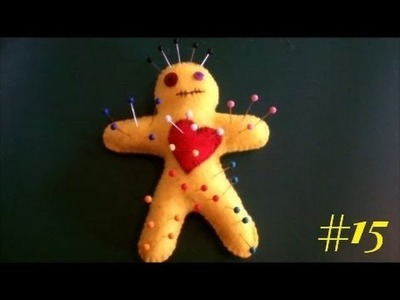 30 Day Craft Challenge #15 - VooDoo Doll Pin Cushion