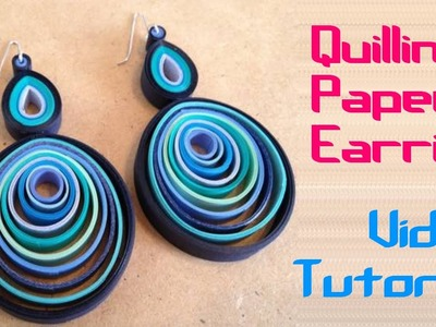 """Art & Craft: How to make Beautiful """"Earing"""" using Paper Art Quilling -Quilling Made Easy"""