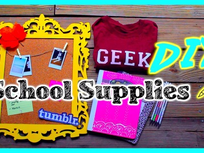 Back to school: DIY School Supplies