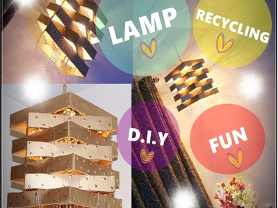Cardboard Lamp  (Modern DIY Geometric Frame Pendant Light)