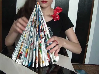 Christmas Tree(s) ( DIY FROM OLD MAGAZINES )