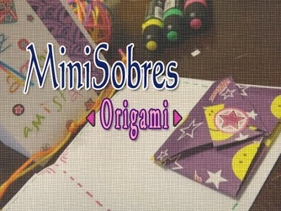 Como Hacer Mini Sobres de Origami. How to make mini origami envelopes