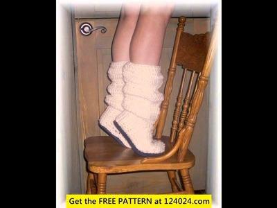Crochet boots for beginners