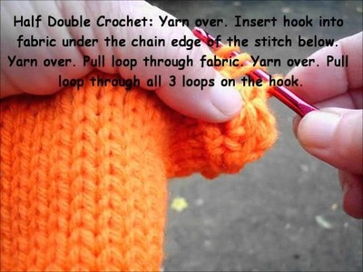 Crochet finishes for knitting part 7-half double crochet