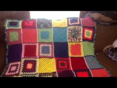 Crochet Granny Square Blanket!!