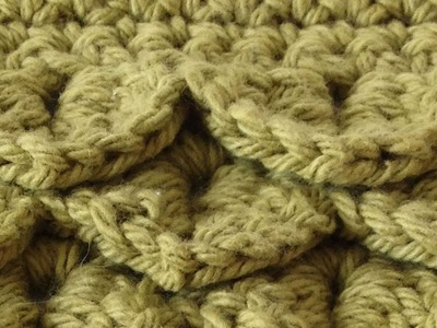 Crocodile Stitch Free Crochet Pattern - Left Handed