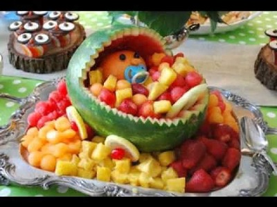 DIY Baby shower fruit decorating ideas