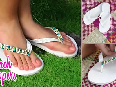 DIY Beach Slippers - Cute Flip Flop Tutorial