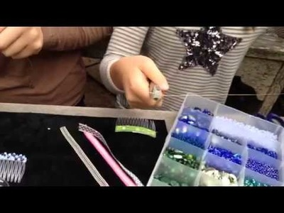 DIY Beaded Hair Combs