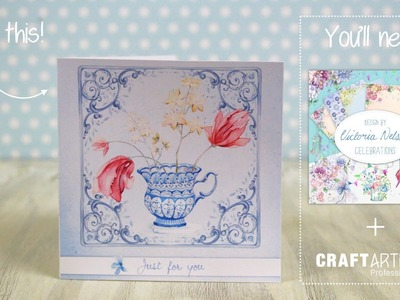 DIY Card Tutorial - made using the Victoria Nelson Occasions digikits