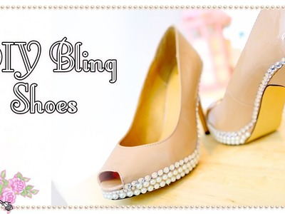DIY Decoden Bling Shoes Techniques - Craft Tutorial - Violet LeBeaux