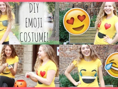 DIY Emoji Costume! {Easy & Cheap}