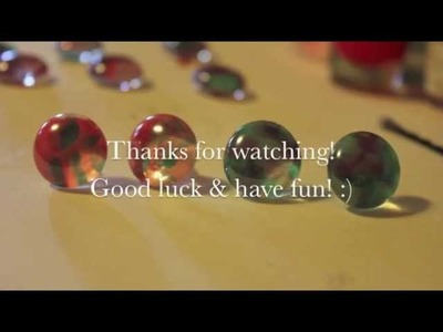 DIY Glass beads earrings tutorial