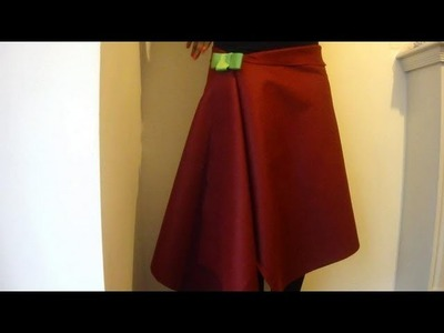 DIY No Sew Skirt. How To Make A Wrap Over Skirt In 1 Minute!