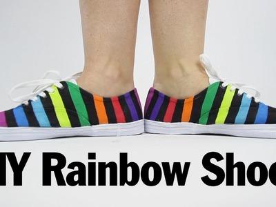 DIY Rainbow Shoes, ThreadBanger How to