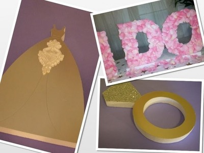 DIY Rose Petal Styrofoam Letters Wedding Tutorial by Styroscript.com