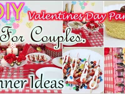 DIY Valentines Day Party Ideas For Couples Treat Decor Food Gift ideas 2015