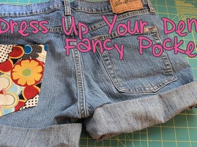 Dress Up Your Denim: Fancy Pockets | No Sew DIY