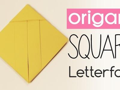 Easy Origami Square Letter Fold