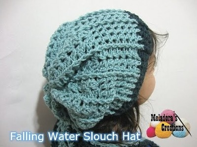 Falling Water Slouch Hat - Left Handed Crochet Tutorial