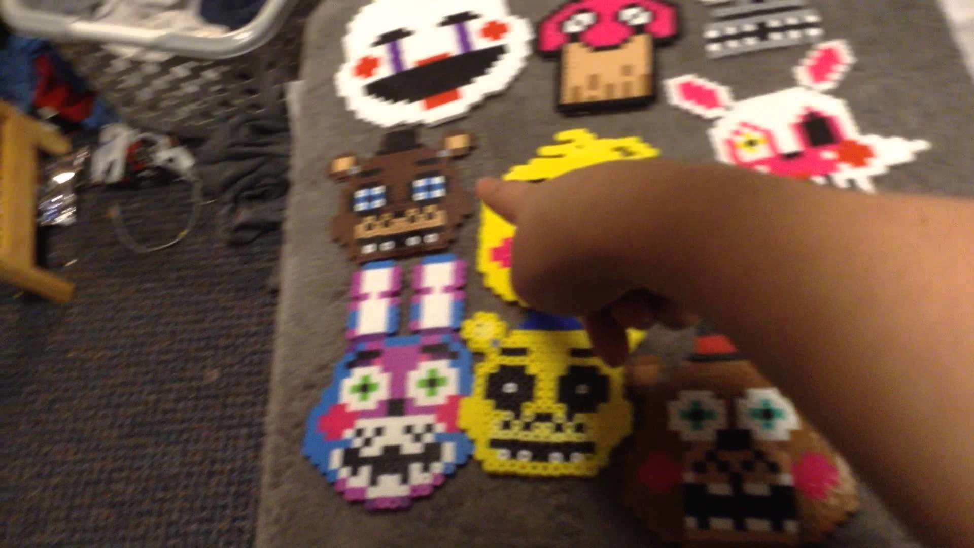 Five nights at freddys perler beads collection so far more to come soon
