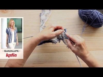 Guadalupe (Attaching strips by knitting. Aplicación tiras a media)