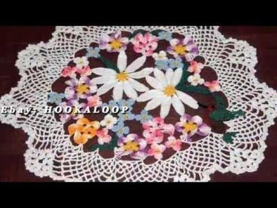 Hookaloop' s  Handmade Crochet Doilies Demo Reel Two