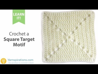 How-To Crochet a Square Target Motif