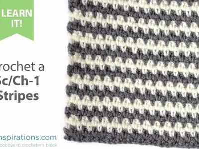 How To Crochet Sc.Ch1 Stripes
