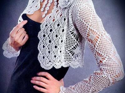 How to crochet vest shrug free pattern tutorial for beginners 2