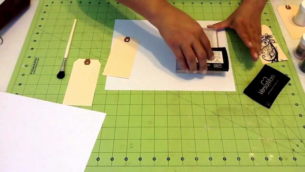 How to Emboss with embossing powder for Scrapbooking or Card Making