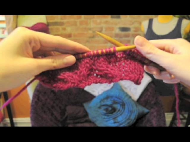 How to knit cables + free cowl neck scarf knitting pattern